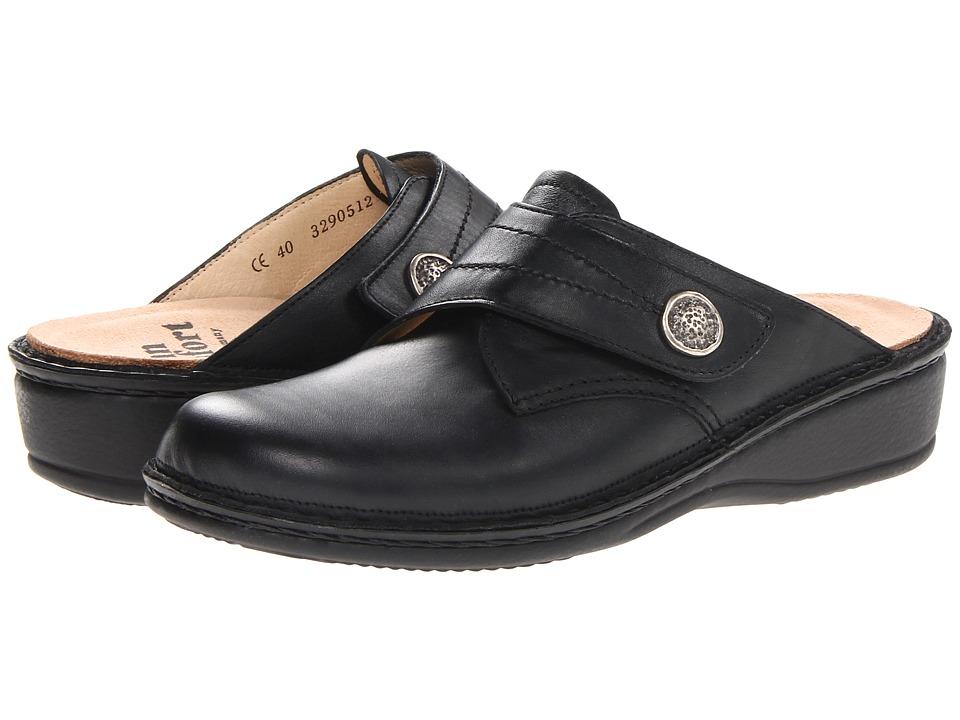 Finn Comfort Santa Fe-S (Black) Women's Clog Shoes