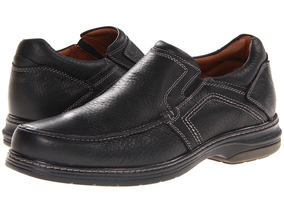 Johnston amp Murphy Colvard Venetian Black Waterproof Full Grain Mens Slip on Shoes