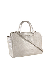 MICHAEL Michael Kors - Large Selma Embossed Top-Zip Satchel