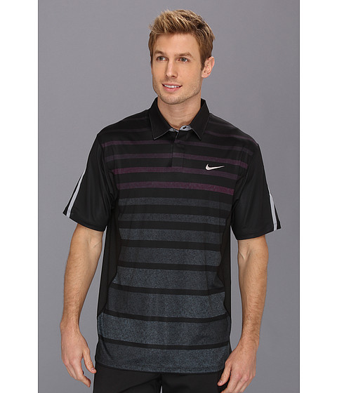 Nike Golf Tiger Woods Stripe Polo Black FA 2013