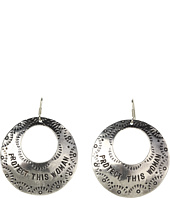 Gypsy SOULE - Protect This Woman Drop Hoop Earrings