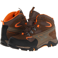 Image of Hi-Tec Kids - Nepal WP Jr. (Toddler/Little Kid/Big Kid) (Brown/Taupe/Clementine) Boys Shoes