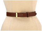 LAUREN Ralph Lauren - 1 Vachetta Belt With Metal Tabs And Endbar Buckle (Lauren Tan)