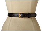 LAUREN Ralph Lauren - 1 Vachetta Belt With Metal Tabs And Endbar Buckle (Black)