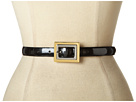 LAUREN Ralph Lauren Pearlized Patent Belt With Two-Tone Centerbar Buckle