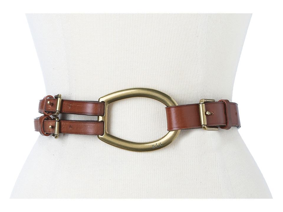 LAUREN Ralph Lauren - Vachetta Tri-Strap Belt (Tan 1) Womens Belts