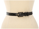 LAUREN Ralph Lauren - Faux Python Belt With Inlayed Buckle (Black)