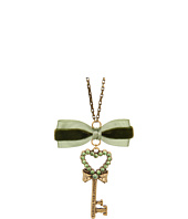 Tarina Tarantino - Emerald Pretty Heart Key Pendant Necklace
