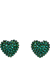 Tarina Tarantino - Emerald Pretty Limited Edition Heart Stud Earrings