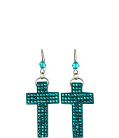 Tarina Tarantino - Micro Pave Cross Earrings