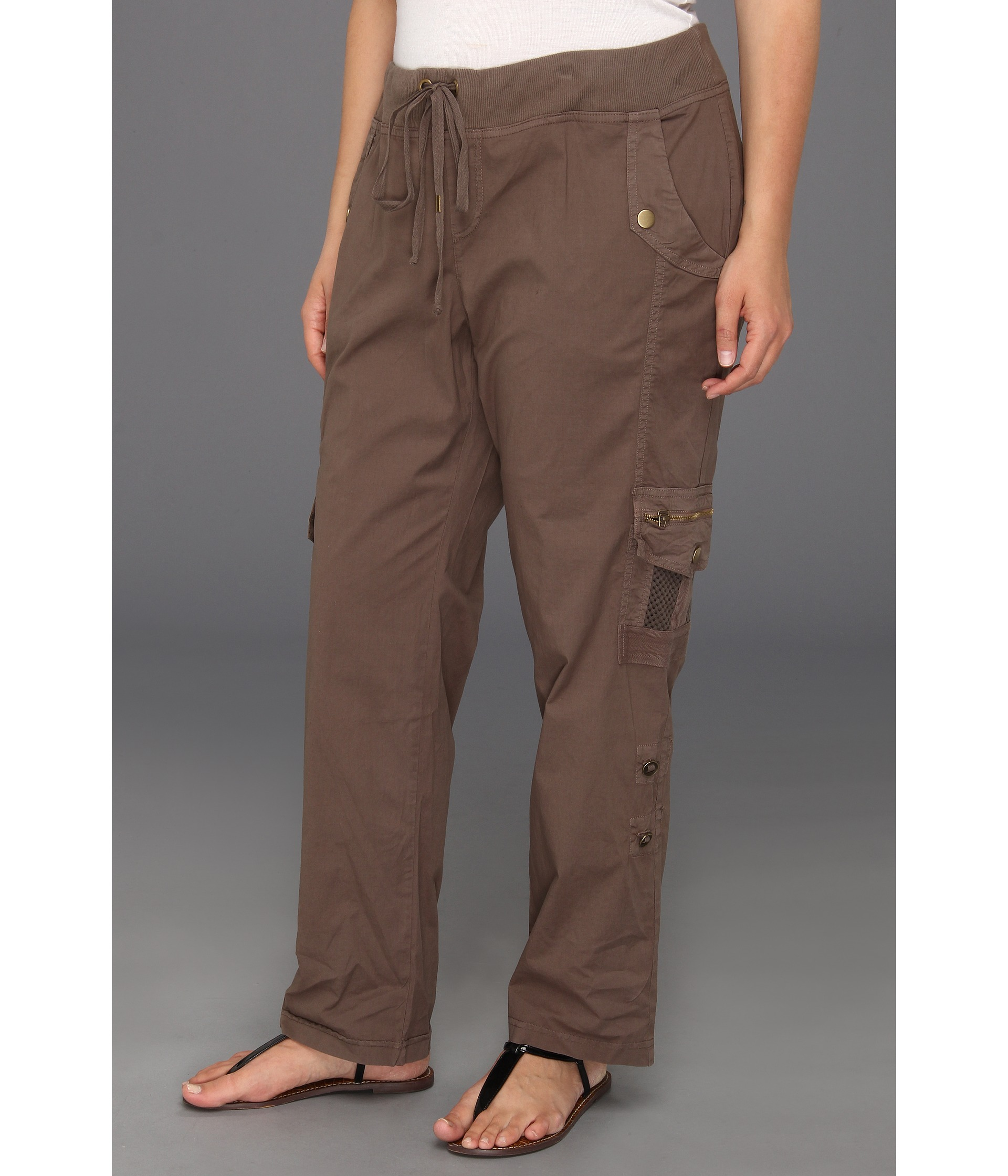 Excellent Love Your Size Women39s Plus Embroidered Cargo Pants  Clothing  Women