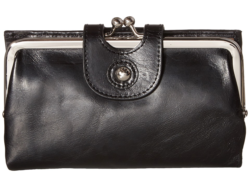 Hobo Alice Black Vintage Leather Wallet Handbags