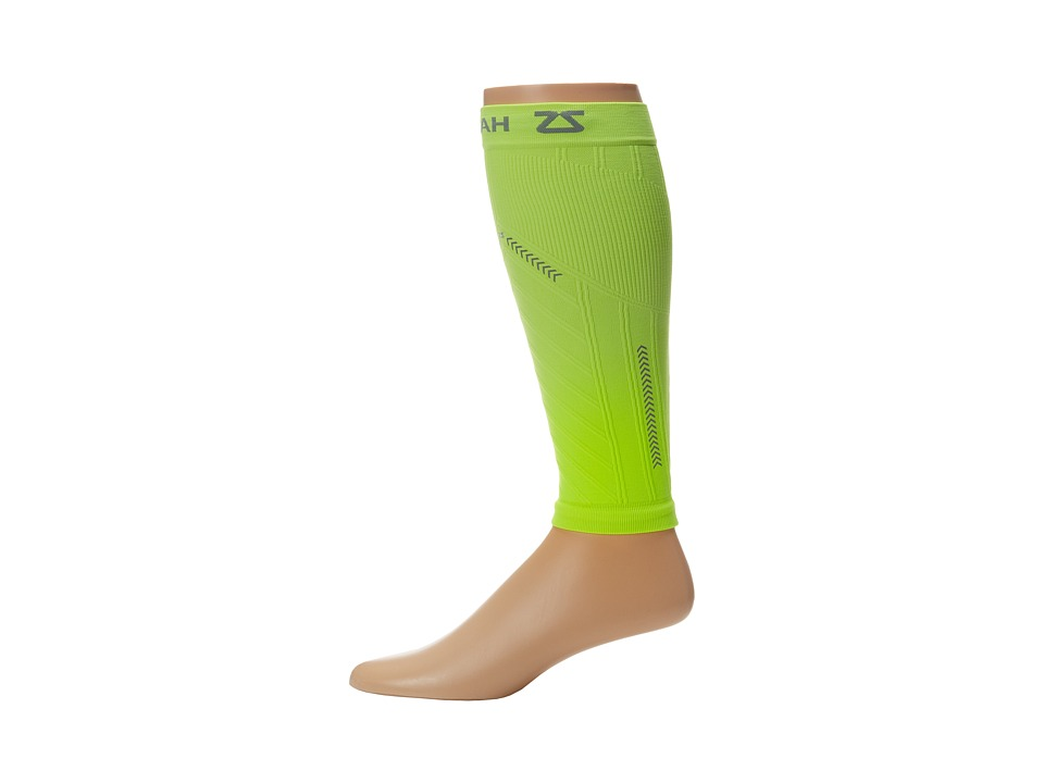 Zensah Reflective Compression Leg Sleeves (Neon Yellow) A...
