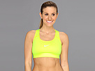 Nike Pro Victory Compression Sports Bra (Volt/Dusty Grey) Women's Bra