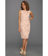 Maggy London - Lace Inset Cotton Sateen Sheath