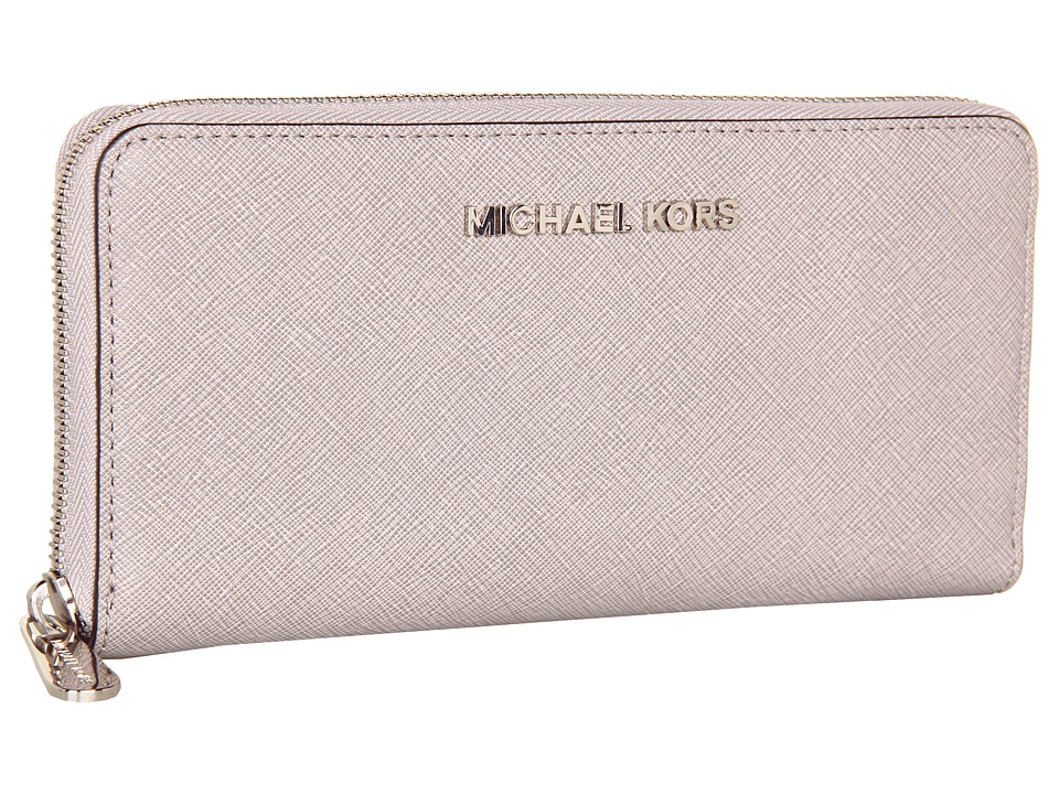MICHAEL Michael Kors - Jet Set Travel ZA Continental (Pearl Grey) Wallet Handbags