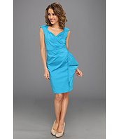 Maggy London - Stretch Taffeta Cap Sleeve Side Drape Dress