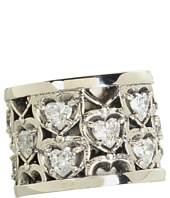 King Baby Studio - Heart Patterned Ring with CZ Stones
