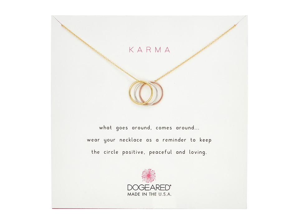 Dogeared - Triple Karma Ring Necklace (Multi) Necklace