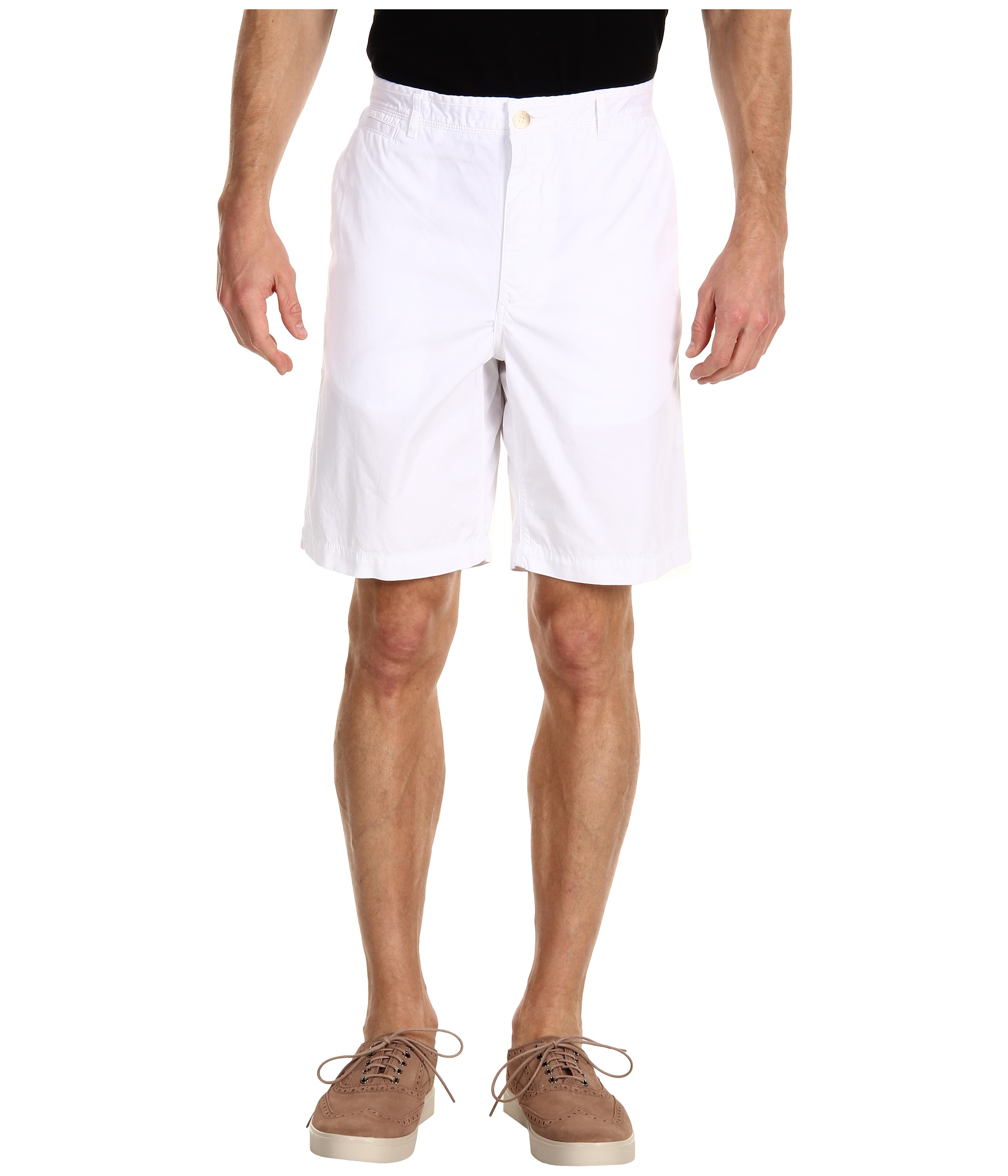 Buy Cheap Perry Ellis Solid Cotton Short Bright White