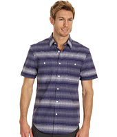Perry Ellis - Regular Fit Ombre Square Horizontal S/S Shirt
