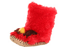 Hatley Kids - Fuzzy Fleece Slippers (Toddler/Little Kid) (Cardinal) - Footwear