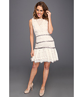 Badgley Mischka - Lace Peplum Dress
