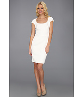 Badgley Mischka - Cap Sleeve Textured Cocktail Dress