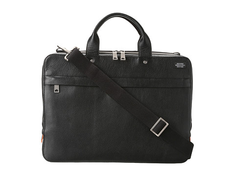 Jack Spade Mason Leather Slim Brief - Black