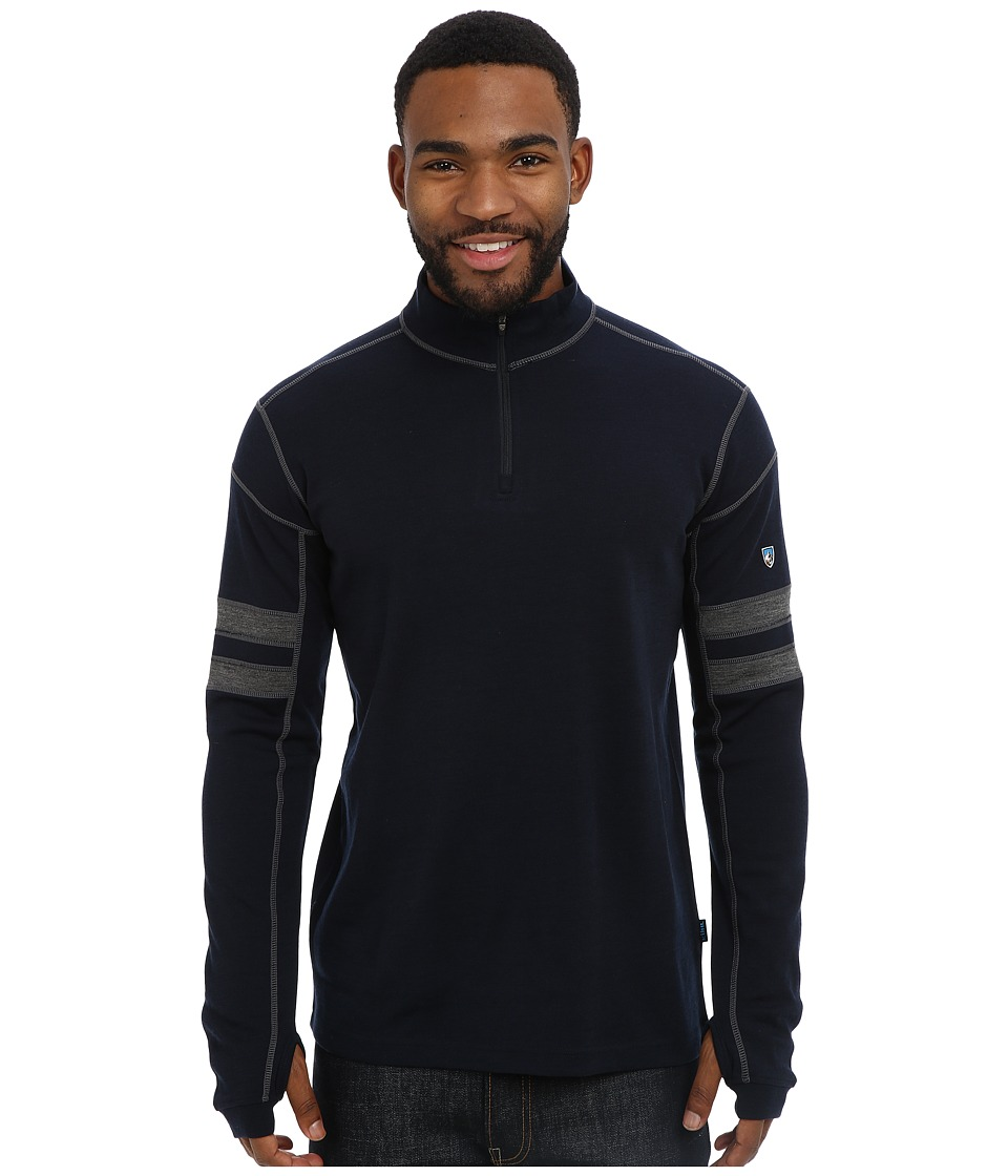 Kuhl K hl Team 1/4 Zip Pirate Blue Mens Long Sleeve Pullover