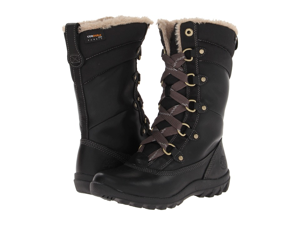 Timberland - Mount Hope Mid (Black Forty Leather) Womens Lace-up Boots