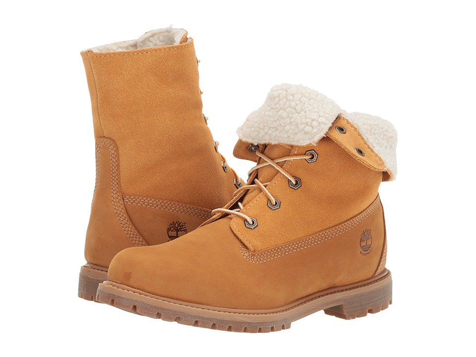 Timberland - Authentics Teddy Fleece Fold-Down (Wheat) Women