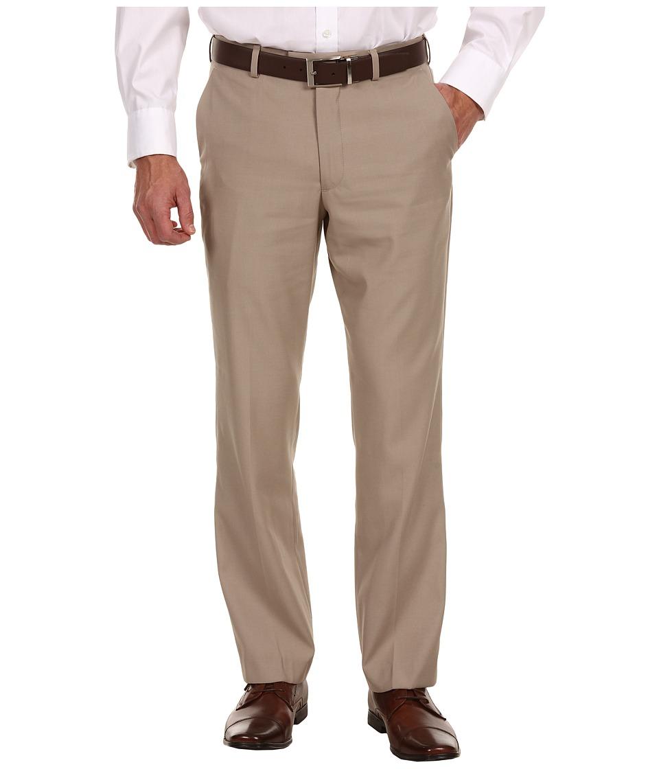 Perry Ellis Portfolio Modern Fit Flat Front Bengaline Pant Beach Bengaline Mens Dress Pants