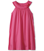 United Colors of Benetton Kids - Girls' Solid Woven Dress w/ Rose (Toddler/Little Kids/Big Kids)