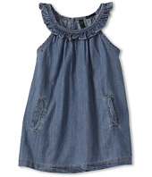 United Colors of Benetton Kids - Girls' Denim Dress w/ Ruffle Collar (Toddler/Little Kids/Big Kids)