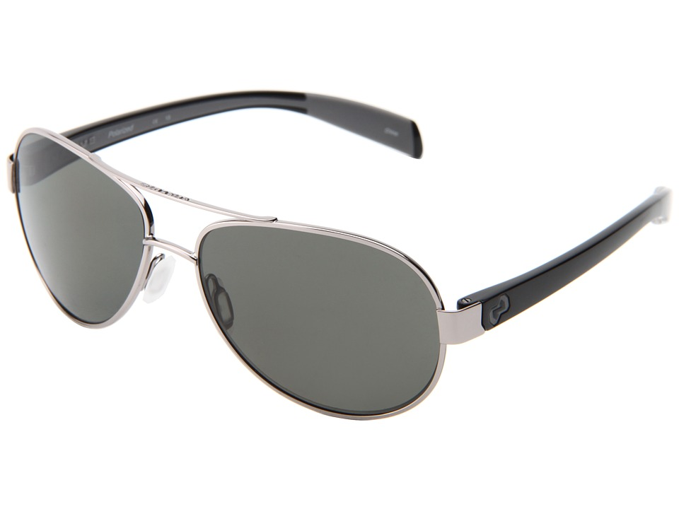 Native Eyewear - Haskill (Chrome/Iron/Gray/Gray Lens) Athletic Performance Sport Sunglasses