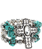 Nocona - Cross Beaded Stretch Bracelet