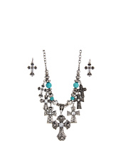 Nocona - Multi Cross Charm Necklace/Earring Set