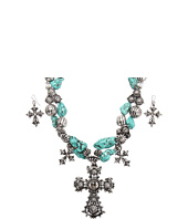 Nocona - Triple Cross Turquoise Necklace/Earring Set