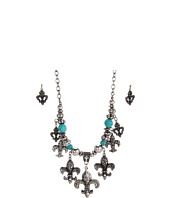 Nocona - Multi Fleur Charm Necklace/Earring Set