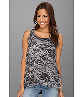 Allen Allen - Double-Layer Open Back Tank Top