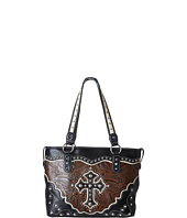 M&F Western - Tooled W/Cross Applique Tote