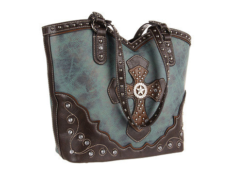 M&F Western Texas Star W/Cross Boot Top Tote