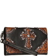 M&F Western - Tooled Cross Wristlet Wallet