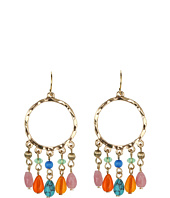 LAUREN Ralph Lauren - Gypsy Hoop Multi Bead Drop Earrings