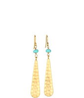 LAUREN Ralph Lauren - Metal Long Teardrop With Small Bead Earrings