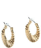 LAUREN Ralph Lauren - Small Texture Clck Hoop Earrings