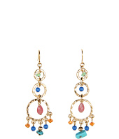 LAUREN Ralph Lauren - 3 Ring Hoop Bead Drops Earrings