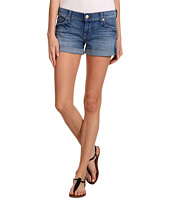 7 For All Mankind - Roll-Up Short in Gleaming Red Cast