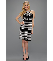 Calvin Klein - Cross Front Striped Dress